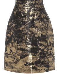 Oscar de la Renta - Linen And Silk-blend Skirt - Lyst