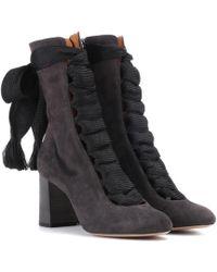 Chloé - Harper Suede Boots - Lyst