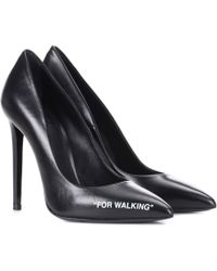 Off-White c/o Virgil Abloh - For Walking Leather Pumps - Lyst