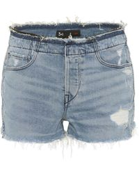 3x1 - Stripped Shelter Denim Shorts - Lyst