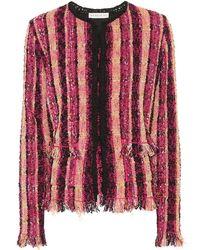 Etro - Giacca a righe in tweed di cotone e lino - Lyst