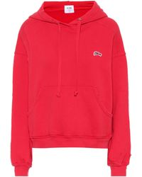 RE/DONE - Logo Cotton Hoodie - Lyst