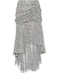Veronica Beard - Floral-printed Silk Skirt - Lyst