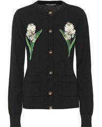 Dolce & Gabbana - Floral Cashmere Cardigan - Lyst