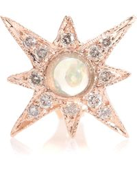 Jacquie Aiche - Shining Star 14kt Gold Opal Stud - Lyst