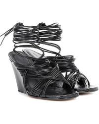 Sandales compensées en cuir TangleRick Owens V5esnn0