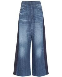 Golden Goose Deluxe Brand - Pantaloni a palazzo Sophie in denim - Lyst