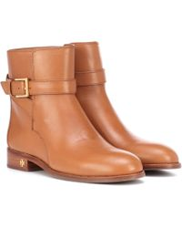 Tory Burch - Brooke Leather Ankle Boots - Lyst