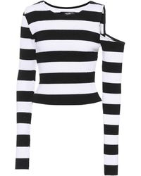 Amiri - Striped Cotton And Cashmere Top - Lyst