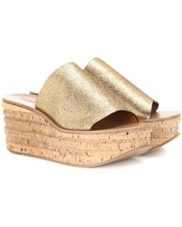 Chloé - Camille Cork And Leather Mule - Lyst