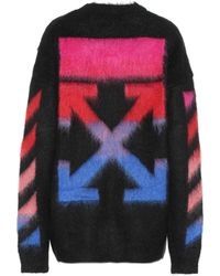 Off-White c/o Virgil Abloh - Mohair And Wool-blend Jumper - Lyst