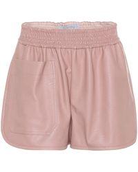 Stella McCartney - Faux-leather Shorts - Lyst