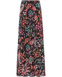 Etro - Floral Silk Crêpe Maxi Skirt - Lyst