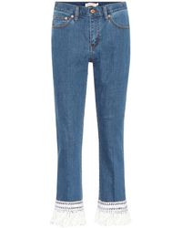 Tory Burch - Connor Cropped Jeans - Lyst