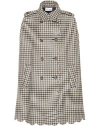 RED Valentino - Checked Tweed Coat - Lyst