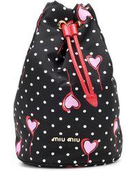Miu Miu - Heart & Dot Drawstring Bag - Lyst
