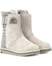 Sorel - Newbie Suede Ankle Boots - Lyst