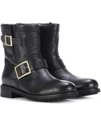 Jimmy Choo - Youth Leather Ankle Boots - Lyst