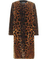 Dolce & Gabbana - Samtmantel mit Animal-Print - Lyst