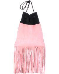 Prada - Suede Shoulder Bag - Lyst