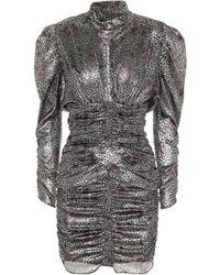 Isabel Marant - Pandor Metallic Printed Minidress - Lyst