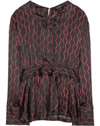 e9009a8748911 Isabel Marant - Siasi Printed Silk-satin Blouse - Lyst