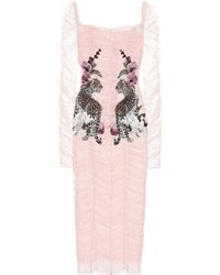 Dolce & Gabbana - Embroidered Tulle Dress - Lyst