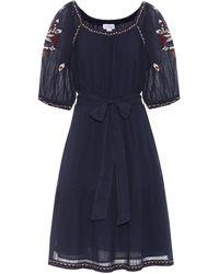 Velvet - Monae Embroidered Cotton Dress - Lyst