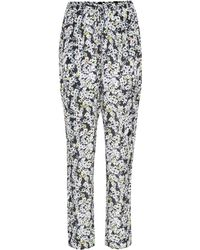 See By Chloé - Floral-printed Silk-blend Trousers - Lyst