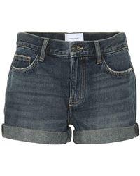 Current/Elliott - The Boyfriend Rolled Denim Shorts - Lyst