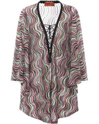 Missoni - Metallic Knitted Cover-up - Lyst