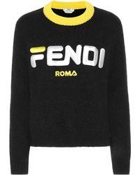 Fendi - Fila Oversized Mohair Knit Sweater - Lyst