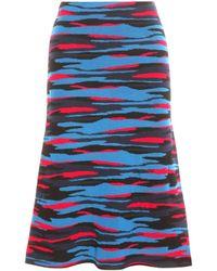 Jil Sander Navy - Printed Wool Skirt - Lyst