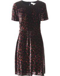 Vanessa Bruno Athé - Daria Floral-printed Velvet Dress - Lyst