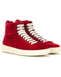 Tom Ford Velvet High-top Sneakers