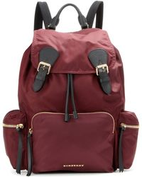 Burberry Prorsum - The Medium Leather-trimmed Backpack - Lyst