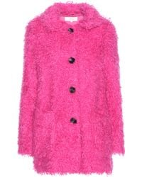 Vanessa Bruno Athé - Faux Shearling Coat - Lyst