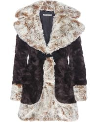 Alessandra Rich - Faux Fur Coat - Lyst