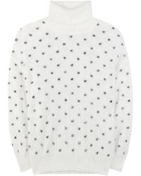 Giamba | Angora-blend Turtleneck Sweater | Lyst
