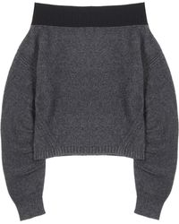 Opening Ceremony - Off-the-shoulder Wool-blend Jumper - Lyst