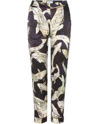 Erdem - Giulia Printed Silk Trousers - Lyst