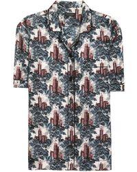 Burberry - Mulberry Silk Pyjama Shirt - Lyst