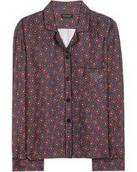 Burberry - Printed Pyjama Shirt - Lyst