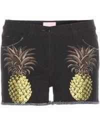Giamba - Printed Denim Shorts - Lyst