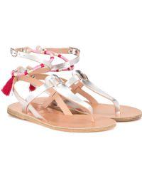 lemlem - X Ancient Greek Sandals Metallic Leather Sandals - Lyst