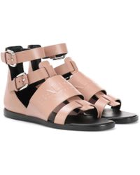 Balmain | Leather Sandals | Lyst