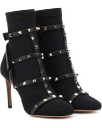 Valentino - Rockstud Ankle Boots - Lyst