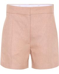 JOSEPH - Windsor Linen-blend Shorts - Lyst