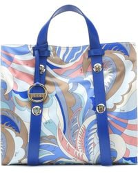 Emilio Pucci - Large Leather-trimmed Twill Tote - Lyst