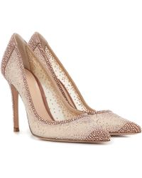Gianvito Rossi - Rania Crystal-embellished Pumps - Lyst